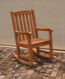 Teak Rocking Arm Chair