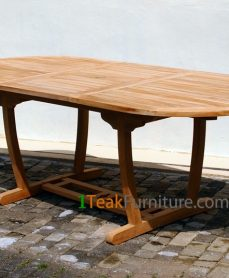 Teak Lengkung Oval Extend Table 120-170 / 100