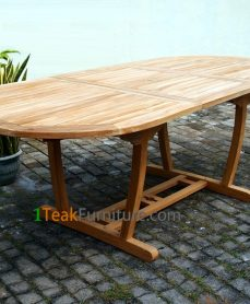 Teak Lengkung Oval Extend Table 170-230 / 100