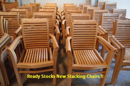 Ready Stocks Teak Stacking Chair