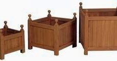 Teak Flower Box 3 pcs