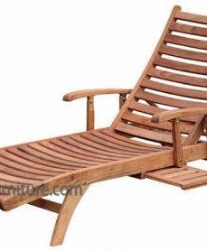 Teak Horizon Arm Lounger