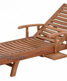 Teak Kuta Arm Lounger