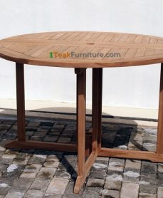 Teak Round Butterfly Table 140