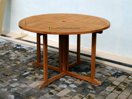 Teak Round Butterfly Table 120