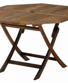 Teak Octagonal Folding Table 120