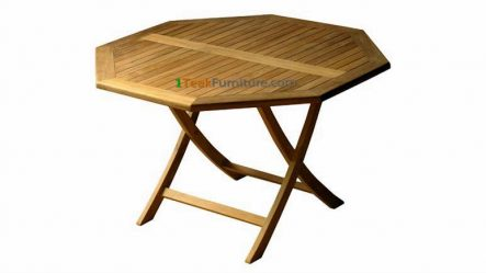 Teak Octagonal Folding Table 70