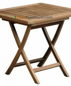 Teak Square Folding Table 80