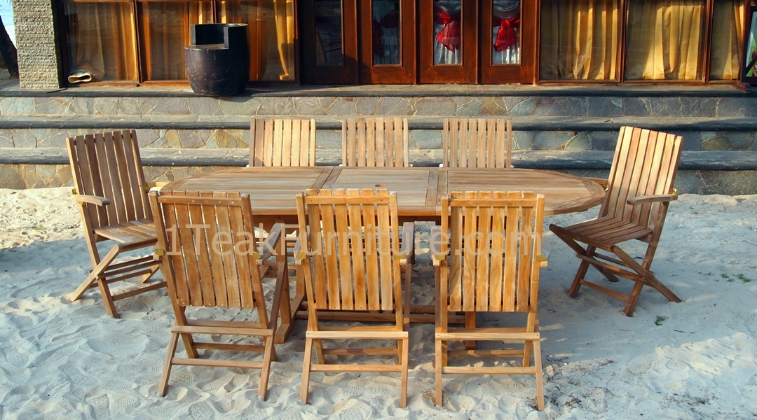 Teak garden furniture manufacture